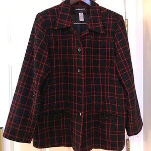 Sag Harbor Black & Red embossed jacket Size-20W